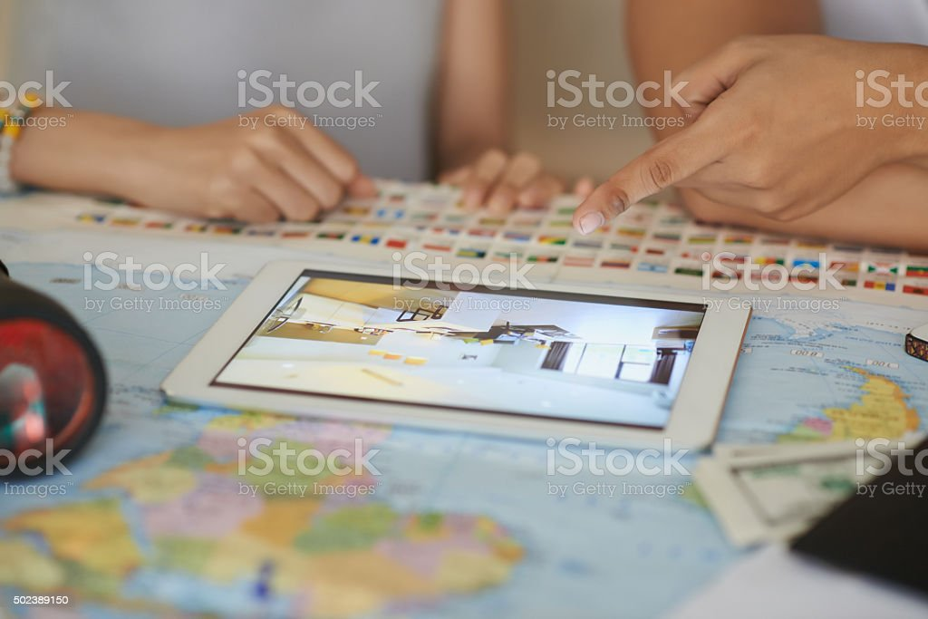 Booking hotel stock photo