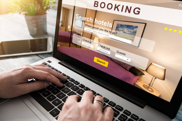 booking hotel travel traveler search business reservation booking hotel travel traveler search business reservation holiday book research plan tourism concept - stock image  making a reservation stock pictures, royalty-free photos & images