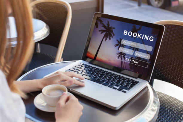 booking online concept, travel booking online concept, travel planning making a reservation stock pictures, royalty-free photos & images