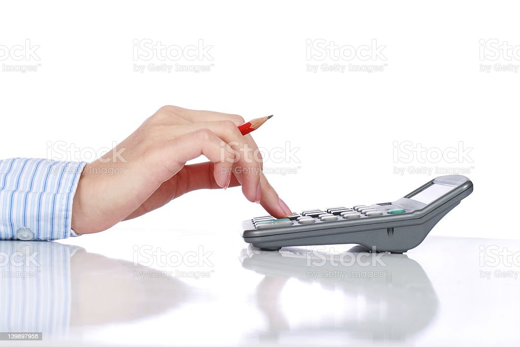 Bookkeeper. royalty-free stock photo