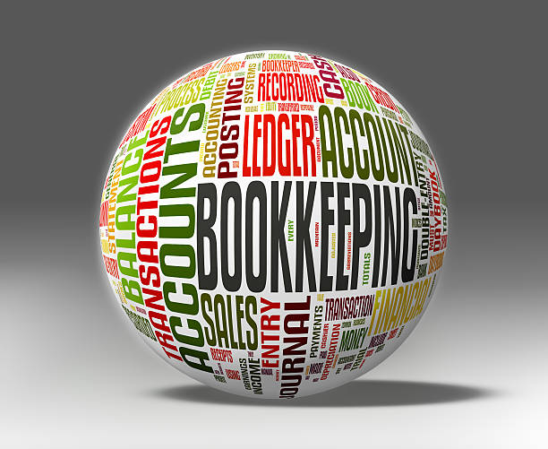 Bookkeeping concepts Bookkeeping concepts on a globe isolated with clipping path depreciation stock pictures, royalty-free photos & images