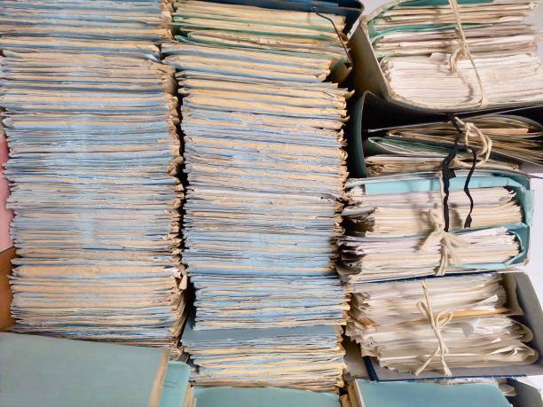 Booklets of archived documents Booklets of archived documents libro stock pictures, royalty-free photos & images