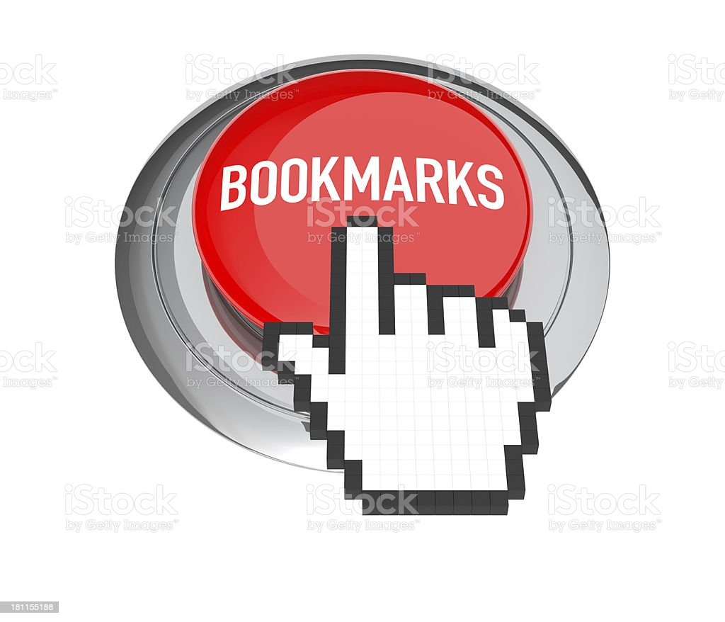 Bookmark Button royalty-free stock photo