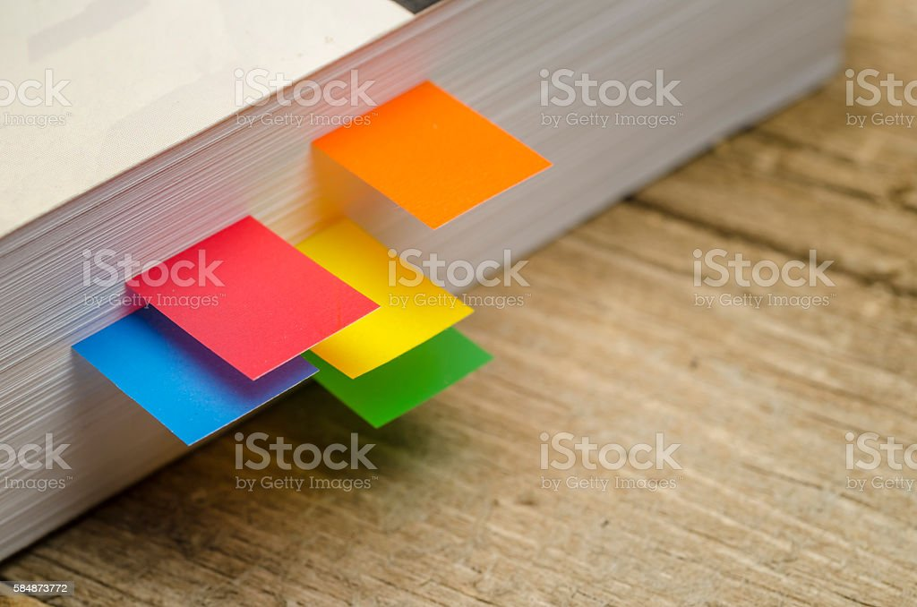 Bookmarks in a Row stock photo