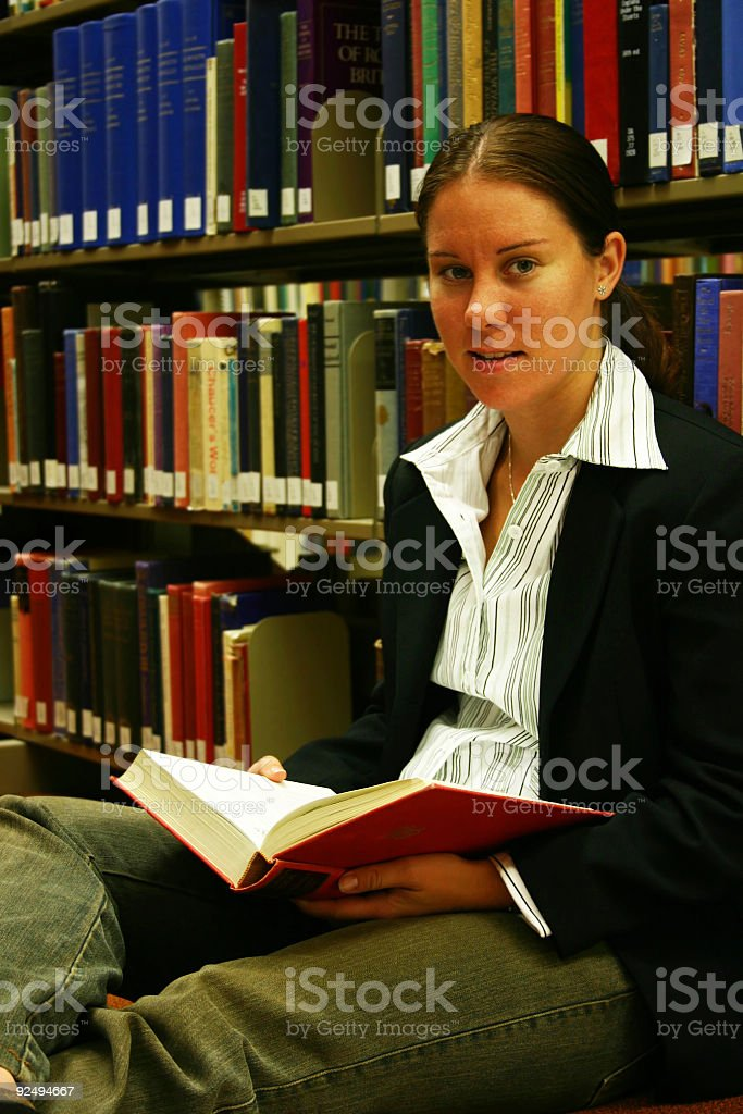 Bookreader royalty-free stock photo