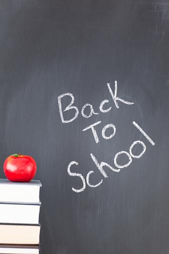 istock Books an apple and a blackboard 826208226