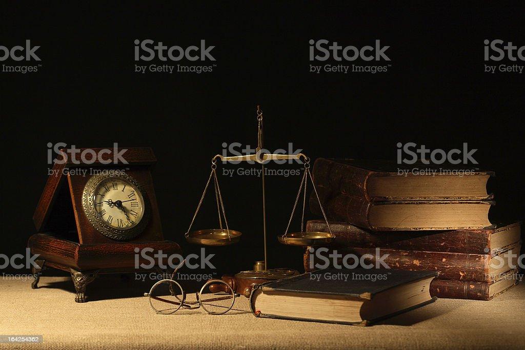 Books And Balance royalty-free stock photo