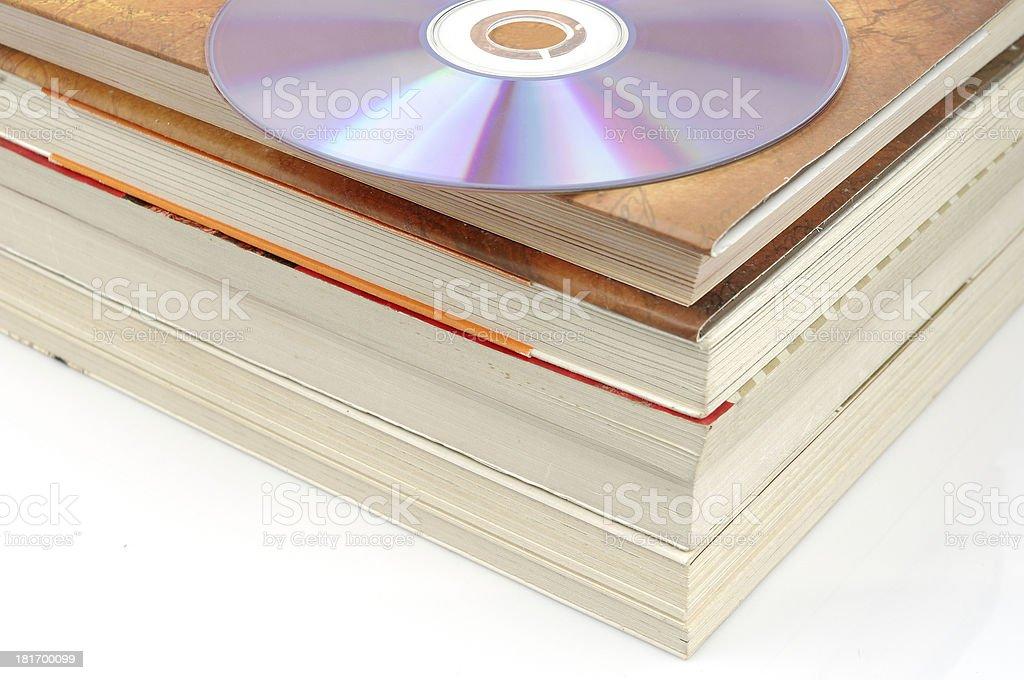 Books and CD-ROM stock photo