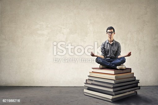 istock Books and concentration 621988216