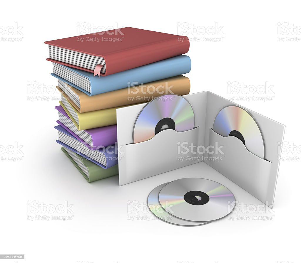 Books and Dvd stock photo