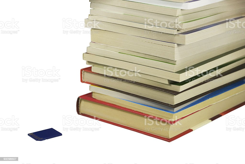 Books And Flash Card stock photo