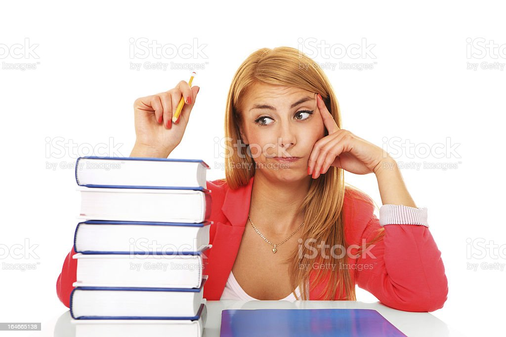 Books and girl royalty-free stock photo