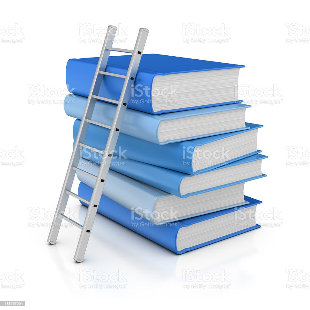 Books and Ladder royalty-free stock photo