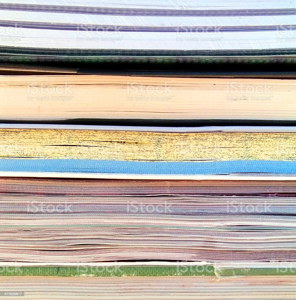 Books and magazines stock photo