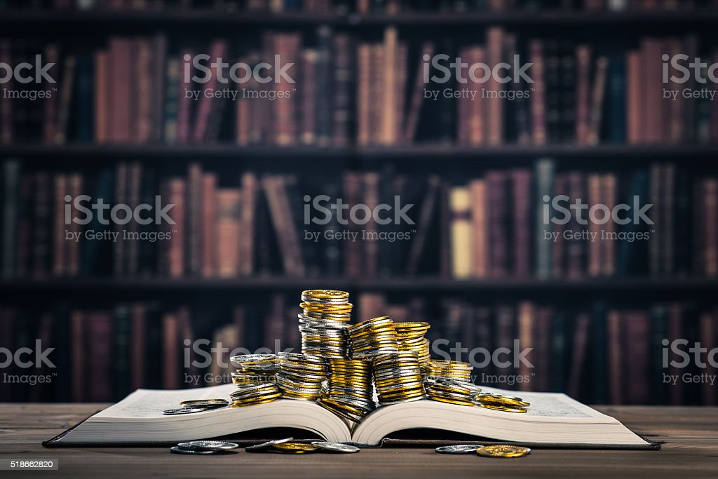 Books and money royalty-free stock photo