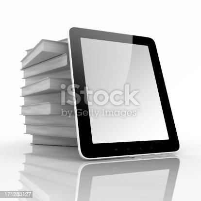 istock Books and tablet computer 171283127