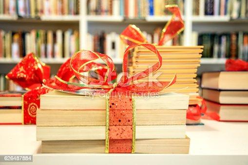 1057183432 istock photo Books as a Christmas present 626487884