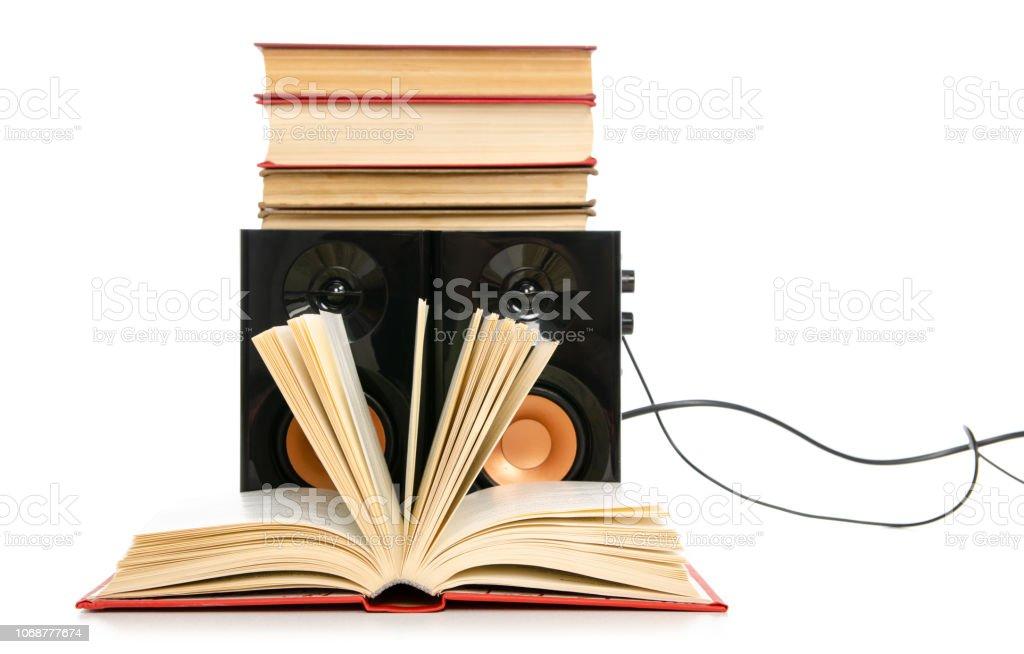 Audiobook de livros falantes - foto de acervo