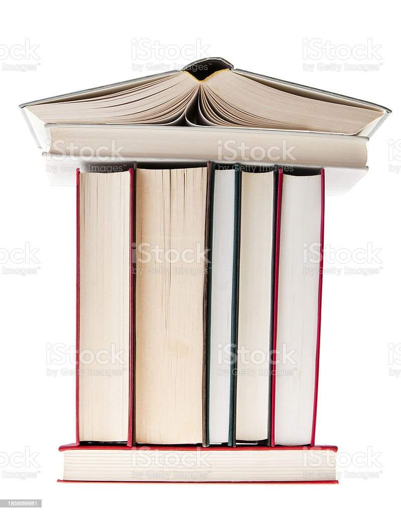 Books Building royalty-free stock photo