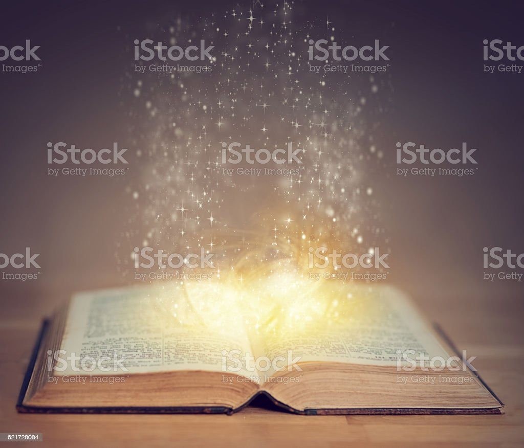 Books can take you on a magical journey stock photo