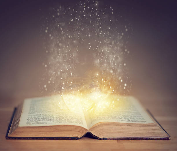books can take you on a magical journey - paranormal stock photos and pictures