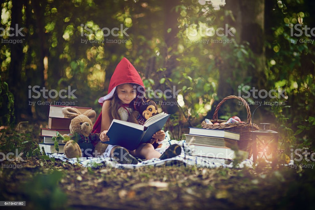Books can transport us to the most magical places stock photo