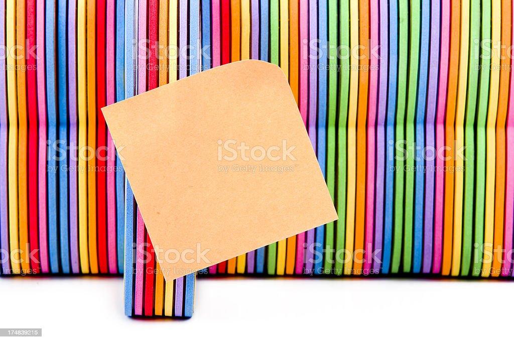 Books child multicolored note XXXL royalty-free stock photo