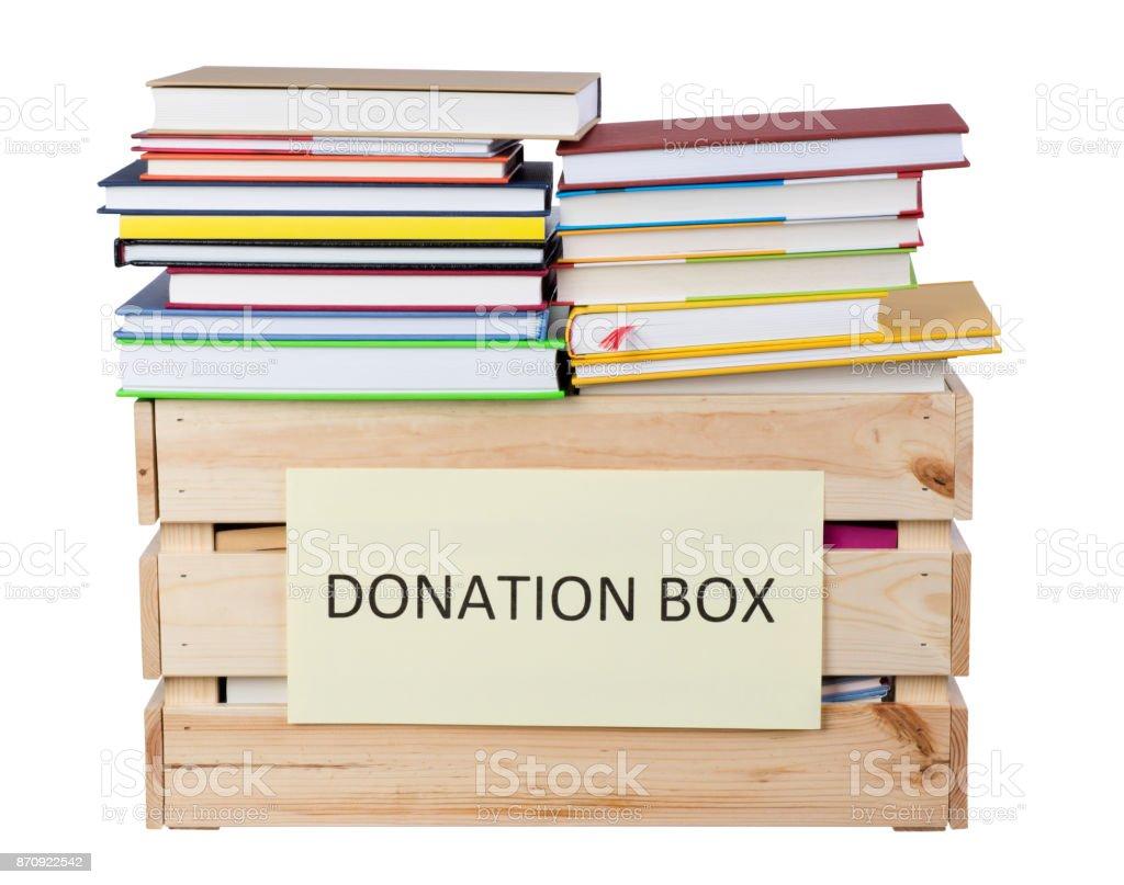 Books donations stock photo