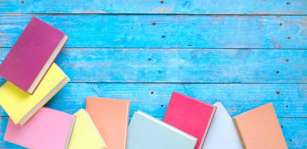Bücher flache Laien, Lesen, Bildung, Literatur-Design-Vorlage freien Kopierraum – Foto