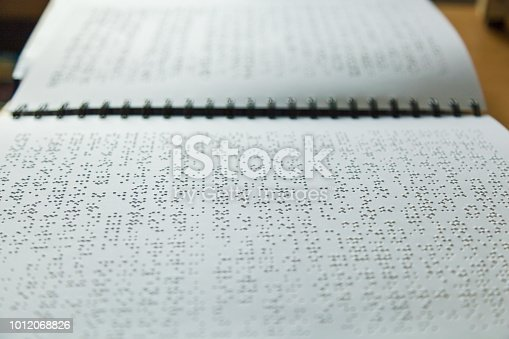 1017945546 istock photo Books for blind people 1012068826