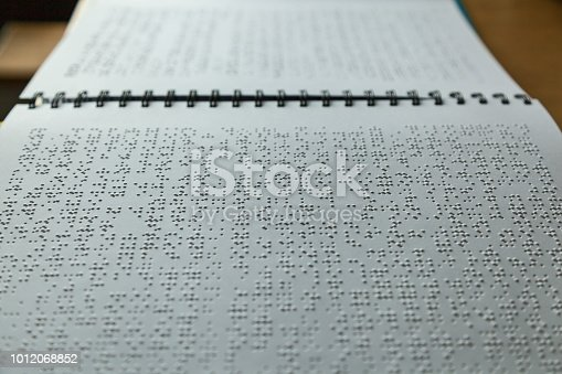 1017945546 istock photo Books for blind people 1012068852