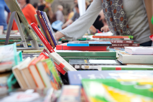 Books for sale on the street