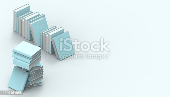 480762174istockphoto Books Groups  green Isometric standing minimal and Modern Art   pastel green on background and - 3D rendering 1149464956
