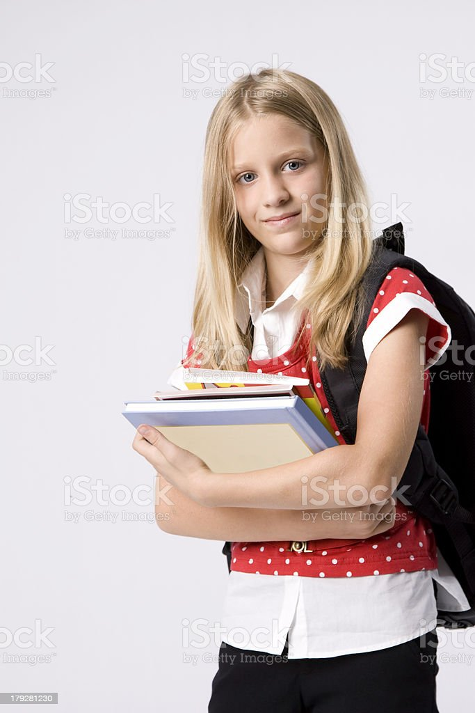 Books Held by Straight A Student royalty-free stock photo