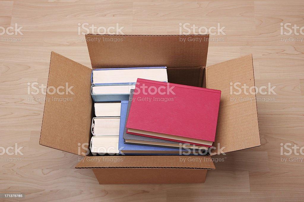 Books in a box stock photo