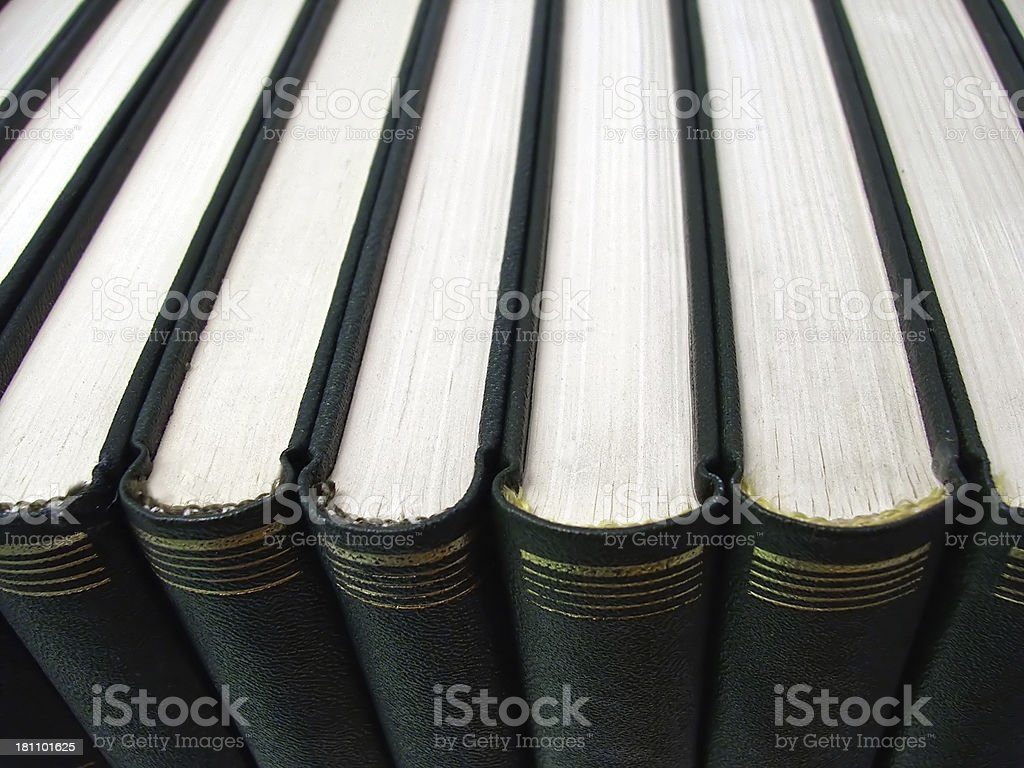 Books in a line royalty-free stock photo