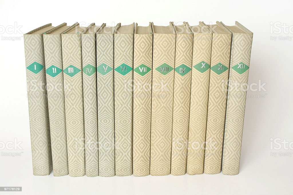 books in a row royalty-free stock photo