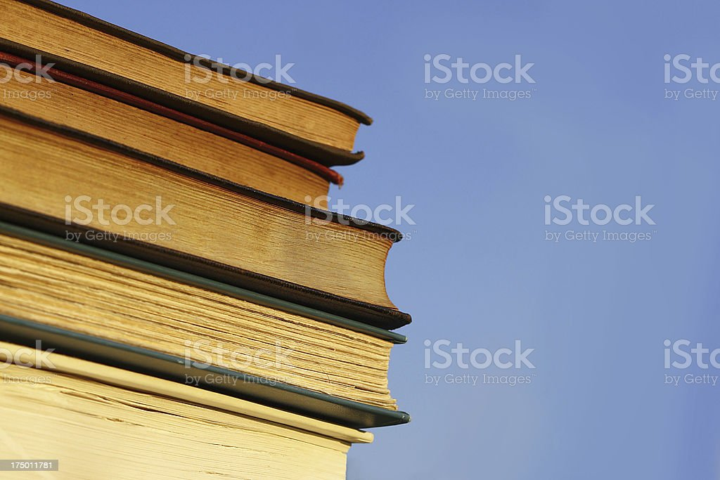 Books in front of Blue Sky royalty-free stock photo