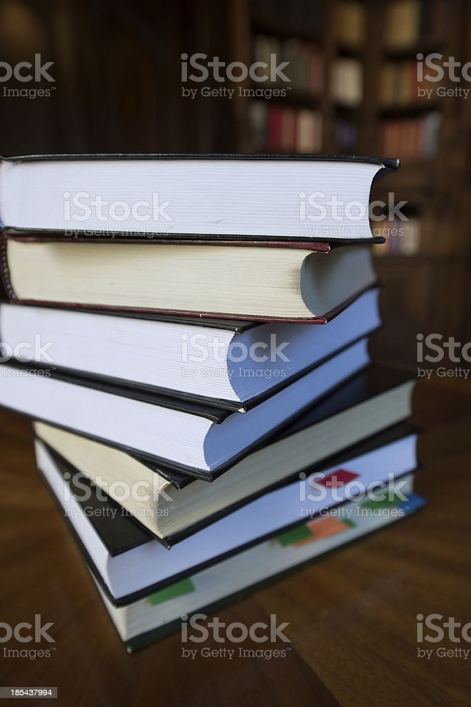 Books in library royalty-free stock photo