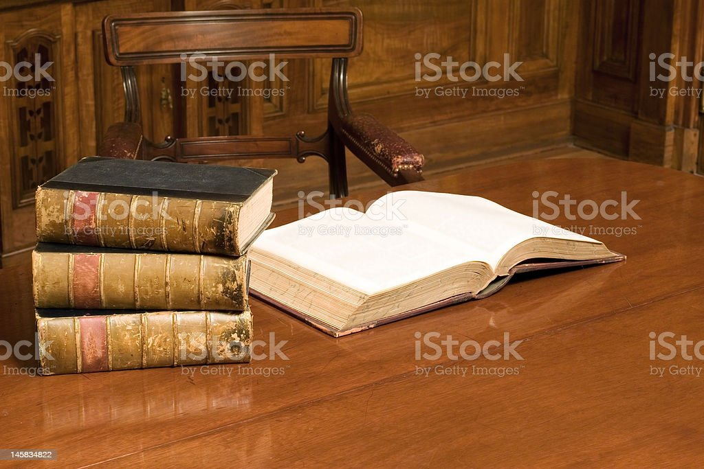 Books in old room royalty-free stock photo