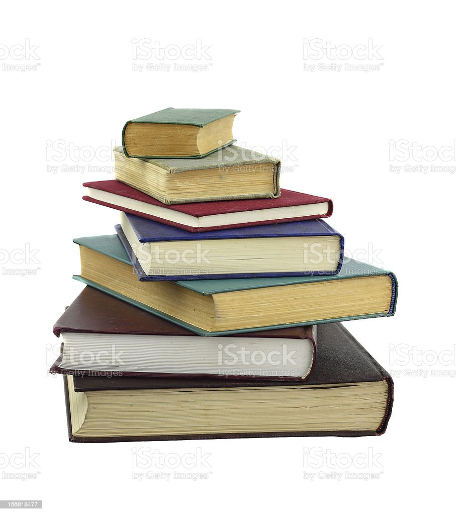 Books in pile royalty-free stock photo