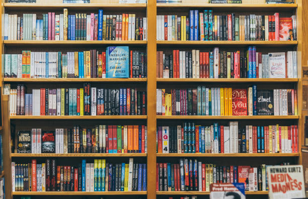 books in shelves - bookstore stock pictures, royalty-free photos & images