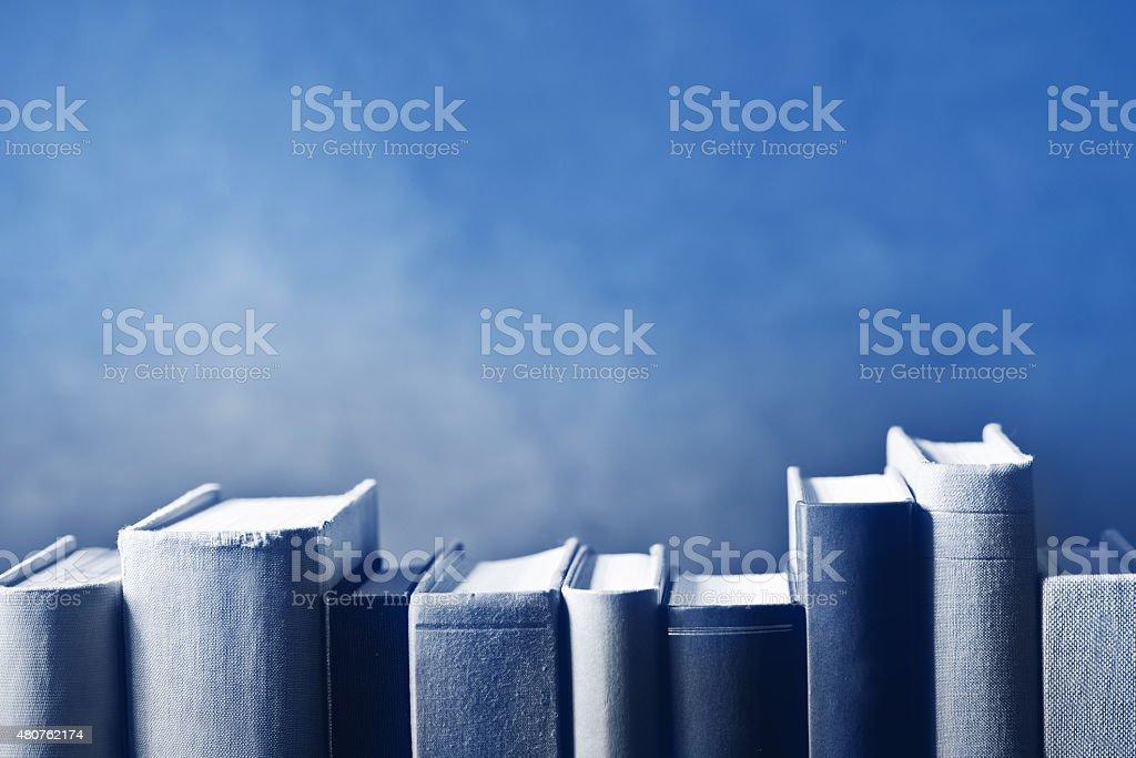 books in the bookshelf stock photo