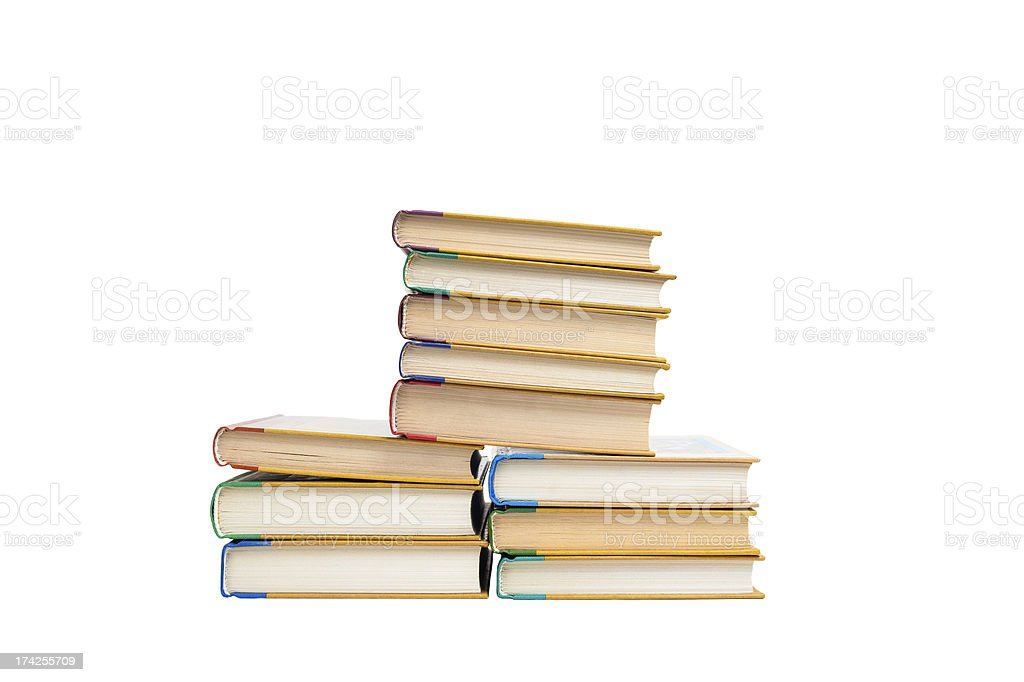 Books isolated on the white royalty-free stock photo