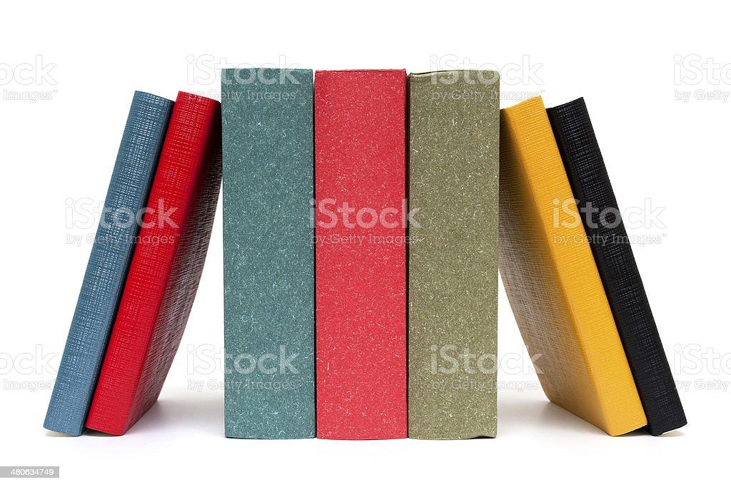 Books isolated on white background stock photo
