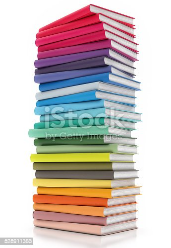 istock Books Isolated on white Background 528911363