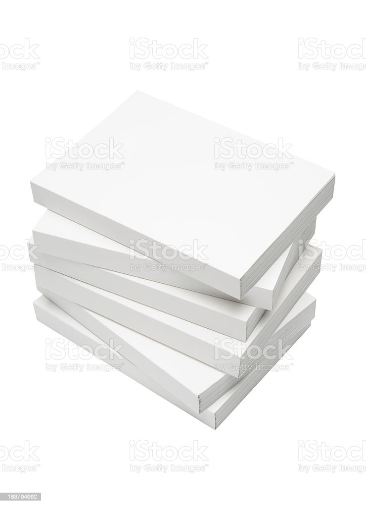 Books Isolated on White with Clipping Path stock photo
