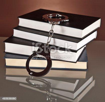istock books, law, handcuffs, 493936580