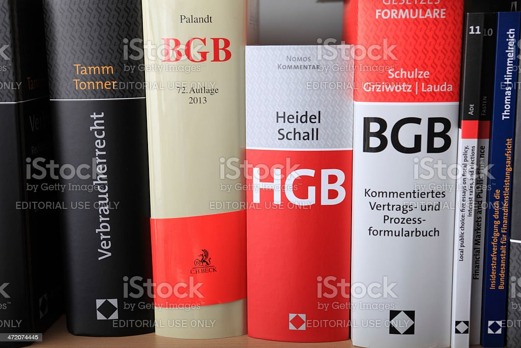 Books of German Law royalty-free stock photo