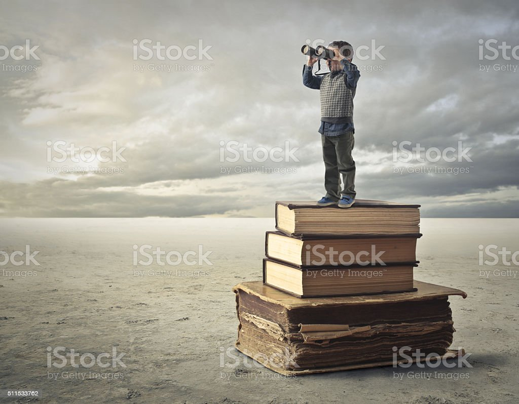 Books of Knowledge stock photo